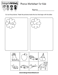 Phonics is a method of teaching kids to learn to read by helping them to match. Free Kindergarten Phonics Worksheets Connecting Spoken Words With Letters