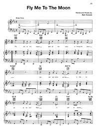 Tranposable music notes for piano/vocal/guitar sheet music by bart howard: Fly Me To The Moon In Other Words Sheet Music By Diana Krall Nkoda