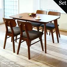 retro dining set brilliant 50s table hang walnut chairs intended for 13 architecture retro dining set por furniture high top room table home decor