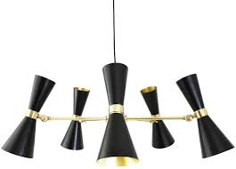 black modern chandeliers. Cairo 5 Arm Retro Modern Chandelier Black Or White Chandeliers P
