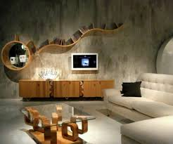 Creative Living Room Ideas Fascinating Interior White Fabric Sectional Sofa  Beige Solid Wood Credenza Storage Beige ...
