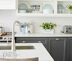 two toned kitchen cabinets gray and white
