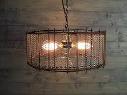 diy rustic flush mount ceiling lights as chandelier