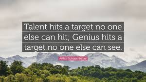 "Talent Quotes Magnificent Arthur Schopenhauer Quote ""Talent Hits A Target No One Else Can Hit"