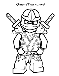 Small Picture Lego Pose With Two Swords Behind coloring picture for kids