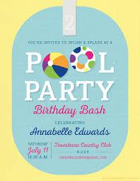 36 Pool Party Invitation Templates Psd Ai Word Free
