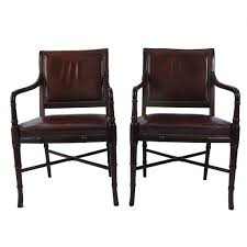 Hickory Chair Bma At Home Vintage Hickory Chair Company Library Chairs