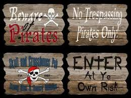 Pirate Signs Decor pirate decorations Google Search Pirate Party Pinterest 2