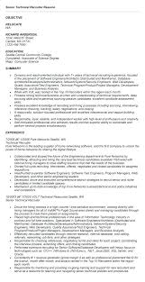 College Recruiter Resume Technical Recruiter Resume Sample Awesome