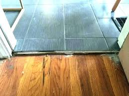 uneven floor tiling wood to tile transition fixing joists