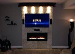 real flame slim jackson wall mounted electric fireplace recessed pebble