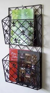 Magazine Holders Cheap Magnificent 32 Tier Old World Tuscan Fleurdelis Wall Mounted Magazine Holder
