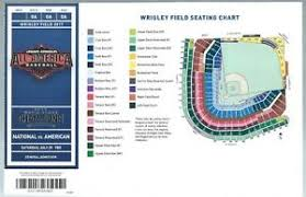 Cubs Seating Chart 2018 Details About 2017 Under Armour All America Baseball Game Ticket Wrigley Field Seating Chart
