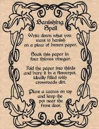 banishing spell book of shadows page bos pages wicca witchcraft magic spell pic