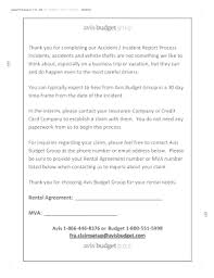 Fillable Online Accident Incident Report Form Avis Fax Email Print