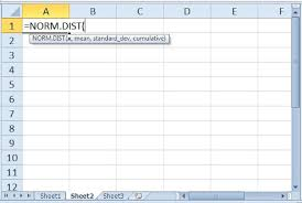 Standard And Normal Excel Distribution Calculations