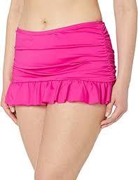 Kenneth Cole Plus Size Swimwear Size Chart Womens Pink Plus Size Skirted Hipster Bikini Swimsuit Bottom
