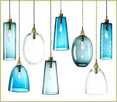 glass pendant light shades new blue shade regarding hanging lamp plans uk