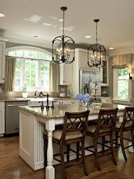 kitchen island lighting fixtures. Kitchen Island Lighting Traditional Design Black Metal Frame With Small Chandeliers As The Light And Chain Hanger Give Classic Look Fixtures U