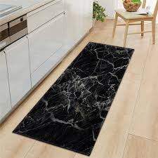 black white marble printed entrance doormat long floor mats carpets for living room kitchen bathroom rugs