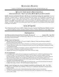 Quality Resume Samples Resume Samples For Experienced Quality Professionals Best Resume 12