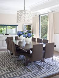 Photos Hgtv Light Filled Dining Room With Drum Pendant Paulshi