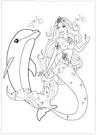 Pin By On Or Templates Mermaid Coloring Pages Barbie For Girls Page