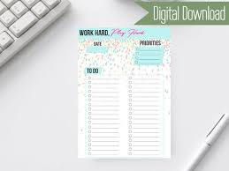 Printable Office Supply List Stunning A48 To Do List Printable To Do List Daily To Do List Etsy
