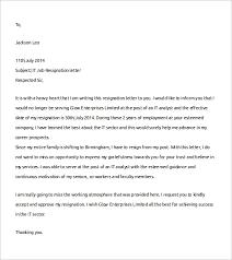 informal job resignation letter template format for resignation letter