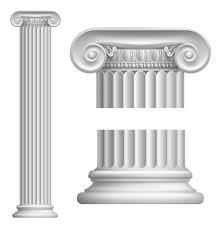 Vintage columns design elements vector 02
