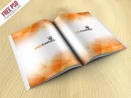 book magazine mockup free psd