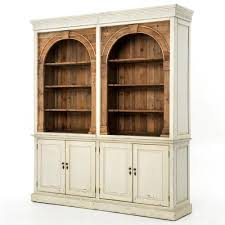 French Country Cabinet Laurine French Country Rustic Ivory Arch Wood Cabinet Kathy Kuo Home