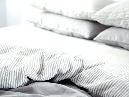 striped linen duvet cover ultra luxurious pure french double sided quilt in soft grey stripes washed striped linen duvet cover