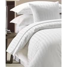 100 luxury hotel quality cotton satin stripe duvet cover set white 300 tc
