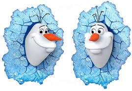 Lighting Disney Frozen <b>Olaf</b> 3D <b>LED</b> Deco Wall Light na-ribe.dk
