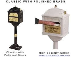 lockable post mount mailbox. Interesting Mount Lockable Post Mount Mailbox Locking Gaines Classic Mailboxes  Residential And