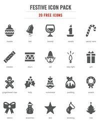 クリスマスをモチーフにしたイラスト無料アイコン素材20個セット
