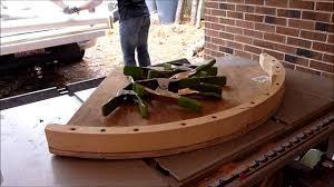 building a cherry sunburst table part 4 bending wood for the skirt a part 2 you