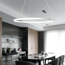 ring pendant light modern circular ring pendant light acrylic aluminum led chandelier ceiling lamp led ring