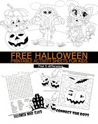 kids activity printables. Fine Printables FREE Halloween Printable Activity Sheets For Kids On Printables P