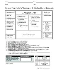 Science Fair Project Template Lovely Board Sample Projects