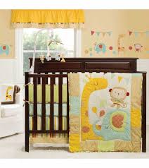 elegant graco jungle friends 4 piece crib bedding set kidsline animal crib bedding set designs