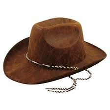 rimi hanger mens womens leather look dark brown cowboy hat s party headwear accessories one size fits most at men s clothing