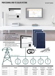 grid tie solar system kit start making your own electricity today and save money