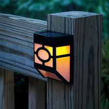 solar powered wall led lights lamp outdoor landscape garden yard fence