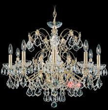 schonbek 1709 22 century 9 light crystal chandelier in heirloom gold with clear heritage crystal