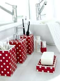 black and red bathroom accessories. Red And White Bathroom Black Polka Dot Decoration . Accessories