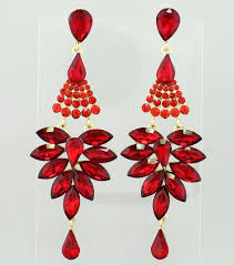 chandeliers red crystal chandeliers for red crystal chandelier pageant earrings long red chandelier