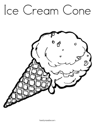Small Picture Ice Cream Cone Coloring Page Twisty Noodle