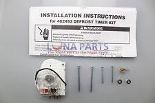 refrigerator defrost timer genuine oem whirlpool w10822278 sears refrigerator defrost timer 482493